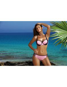 Ženski dvodijelni kupaći kostim Charlotte Pink M-495 (3)