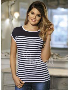Ženska majica Julita plava-bijela