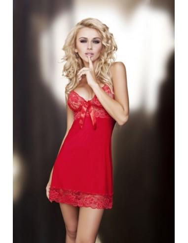 Ženska spalna srajčka rozaa rdeča