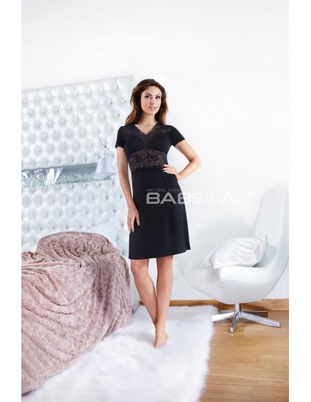 Ženska spalna srajčka Vega črna