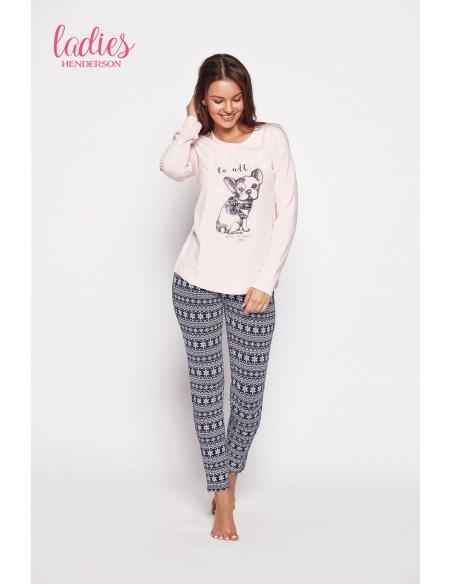 Ženska pižama Glory 35604-03x roza-modra