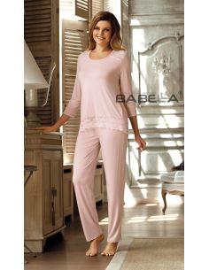 Ženska pidžama Olimpia Morelowy roza