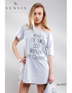 Ženska spalna srajčka Oversize grafitno siva