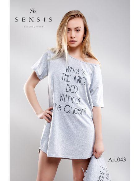 Ženska spalna srajčka Oversize siva