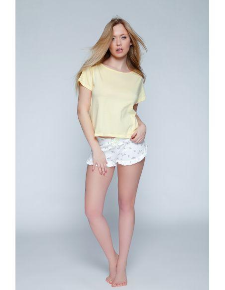 Ženska poletna pižama Yellow