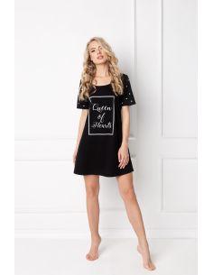 Ženska poletna pižama Hearty črna