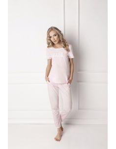Ženska pižama Babe Long roza