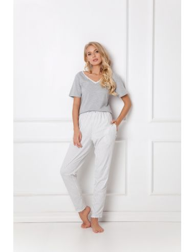 Ženska pižama Gwen Long siva
