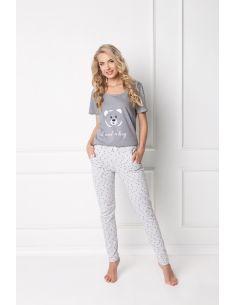 Ženska pidžama Huggy Bear Long siva