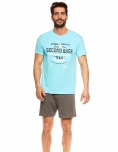 Moška pižama Join 36823-50X modra-siva