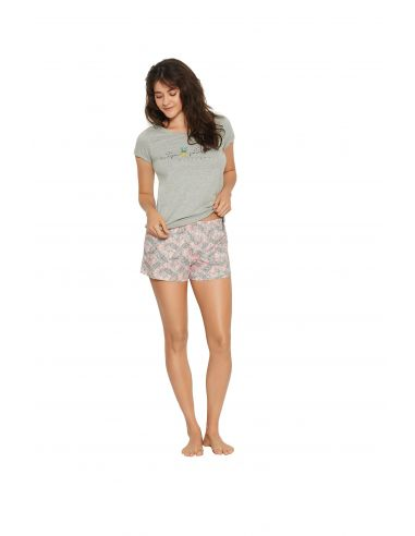 Ženska pižama Favor 38060-90X siva-roza