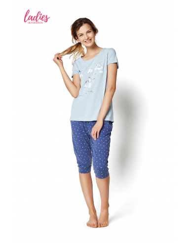 Ženska pižama Rakel 35255-50X modra