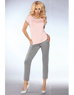 Ženska pižama Mimi 101 siva-roza (siva-roza)