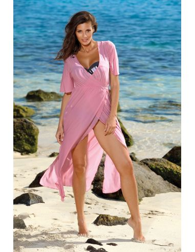 Tunika za na plažo Hilda Soft Pink M-568 (6)