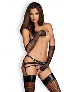 Pas za nogavice in tangice Darkie garter belt