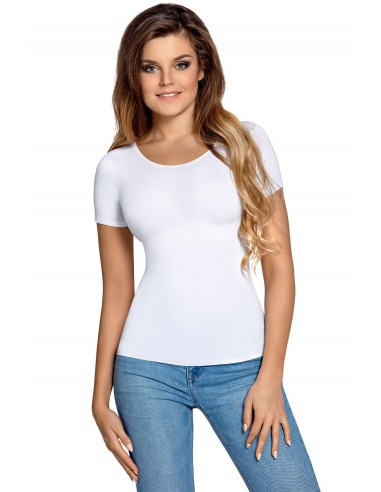 Ženska majica Carla kratek rokav bela