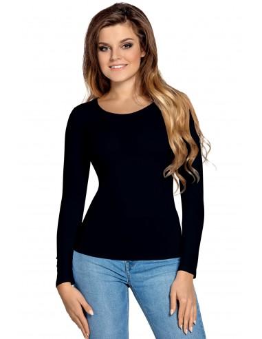 Ženska majica Manati dolgi rokav črna