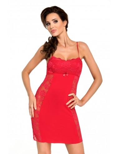 Spalna srajčka Brigitte II rdeča
