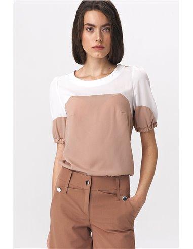 Ženska bluza s kratkimi rokavi B115