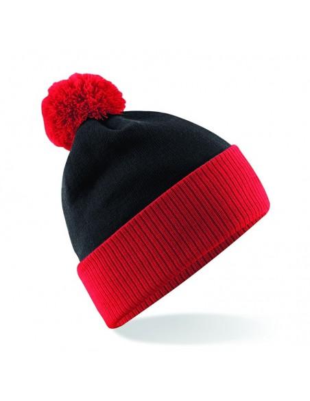 Zimska kapa z dvobarvnim cofom B451