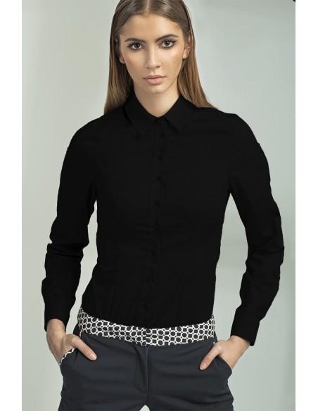 Ženska klasična srajca z dolgimi rokavi K43