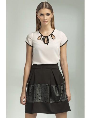 Ženska elegantna majica z kratkimi rokavi B42