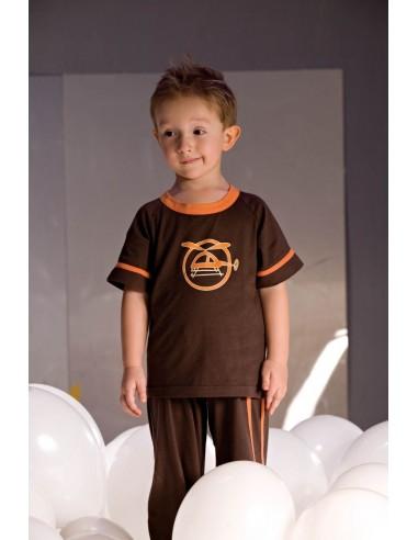 Otroška pižama Noe 2975 rjava