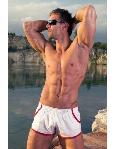 Moške Ženski kupaći kostim Imago bijela rdeče