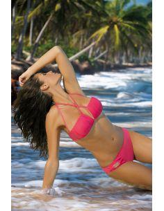 Ženski kupaći kostim Kimberly Icelolly M-246 koralna (149)