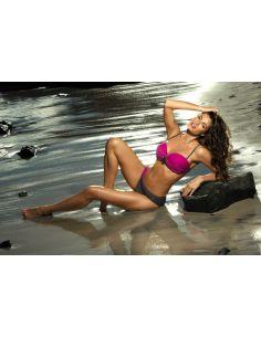 Ženski kupaći kostim Cornelia Magenta-Titanium M-321 (2)