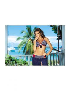 Ženski kupaći kostim Charlotte M-186 modro-bijela-zlata -52-