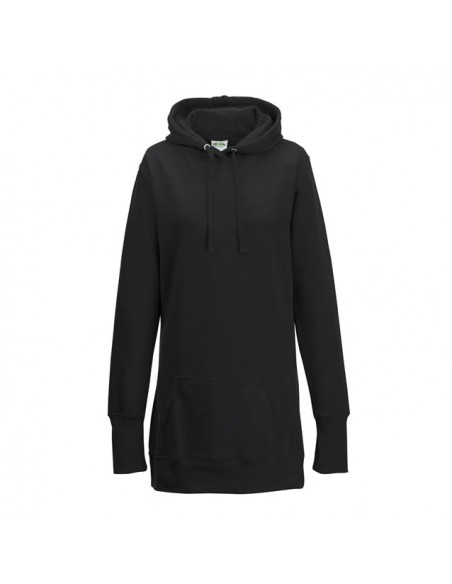 Ženski podaljšan pulover s kapuco JH005