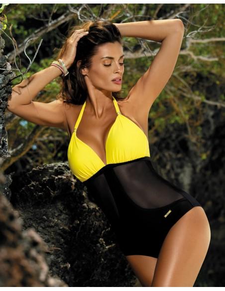 Ženski kupaći kostim Priscilla Banana-Nero M-428 (3)